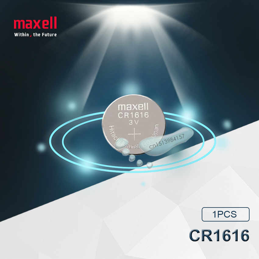 1pc Maxell 100% Original CR1616 Button Cell Battery For Watch Car Remote Key cr 1616 ECR1616 GPCR1616 3v Lithium Battery