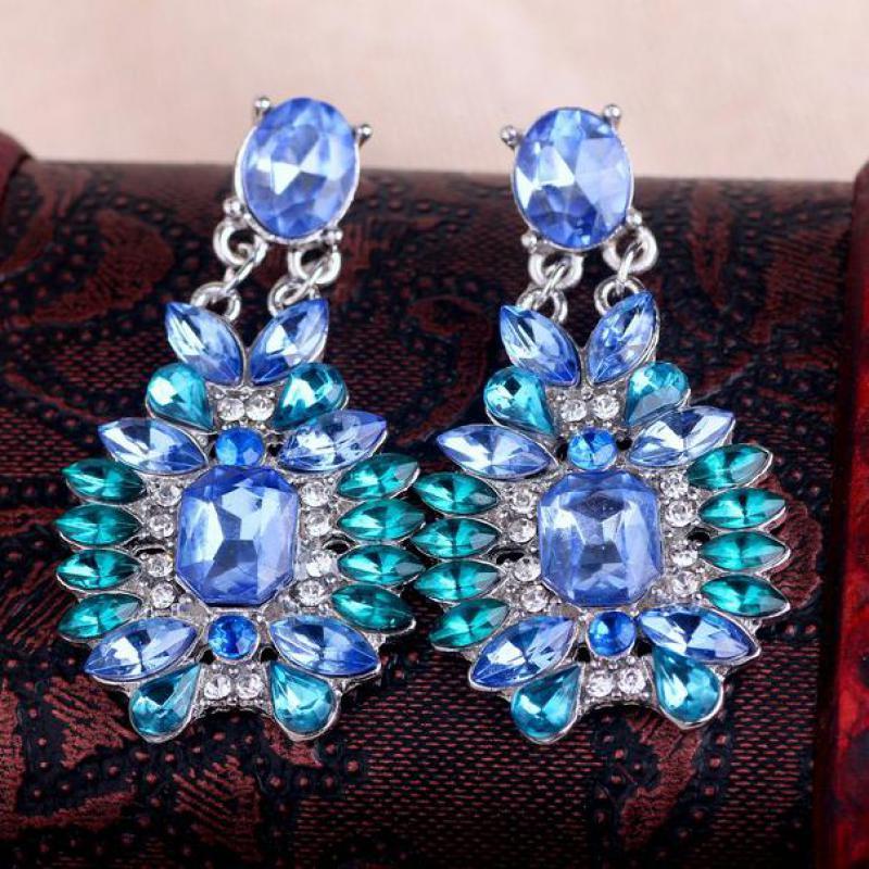 2016 New Elegant Fashion Jewelry, High-bright Blue Stone ...