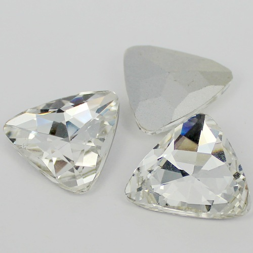 Jewelry & Accessories Beads Humorous Crystal Clear Triangle Shape Crystal Fancy Stone Point Back Glass Stone For Diy Jewelry Accessory.12mm 18mm 23mm With The Most Up-To-Date Equipment And Techniques