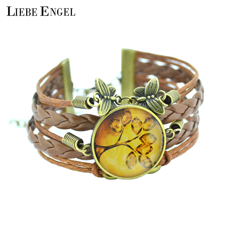 LIEBE ENGEL 2017 newest Bracelet Bangles life tree Galaxy Cas