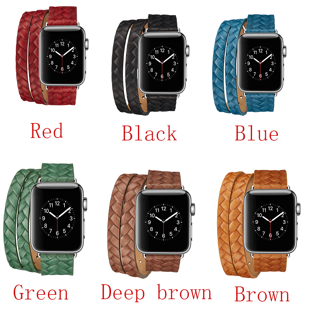 CARLYWET 38 42mm Wholesale Hot Sell Sports Smart Genuine Leather Replacement Watch Band Strap Belt for Apple iWatch series 3/2/1 woven canvas casual sports watch band iwatch strap genuine leather watch belt for apple watch