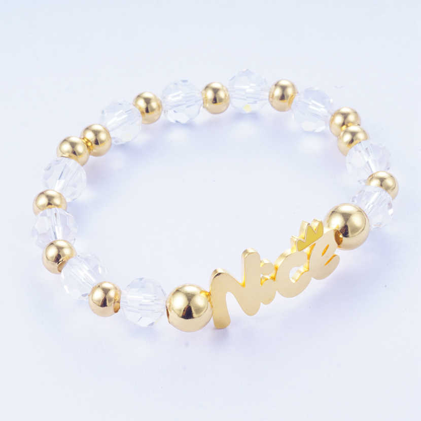 Yunkingdom Adjustable Beads Stone Gold Color Bracelet & Bangles Stainless Steel Bracelets for Women New 2019 Jewelry 3 colors