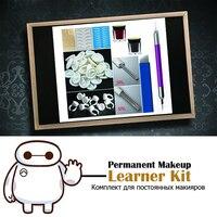 Manual Microblaing Permanent Makeup Learner Kit With 3D Pen,Pigments,Tebori Blades,Round Needles,Tattoo Practise Skin etc.