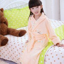Hot! 2-dix années garçon fille enfants peignoir/serviette de bain à capuchon/enfants bain éponge de bain/bébé robe Honey peignoir enfant