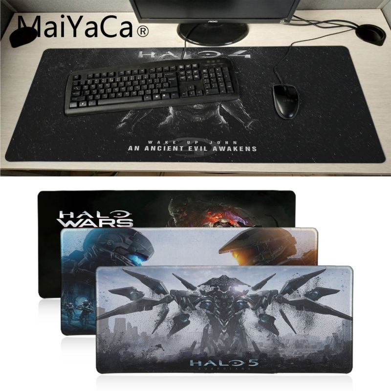 MaiYaCa Cool New Halo 4 gamer Keyboard Gaming MousePads Office Mice Gamer Soft Lockedge Mouse Pad gamer Notebook Mice Mats