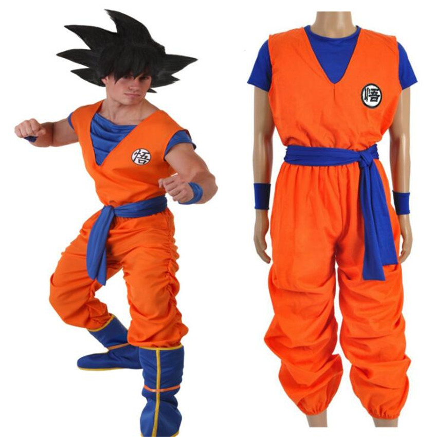 Anime Dragon Ball Son Goku Cosplay Costumes Uniforms High Quality Clothing