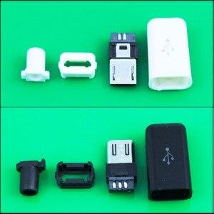 Cltgxdd Черный Белый Мини USB 5-контактный разъем для штекера и пластиковая крышка для разъемов