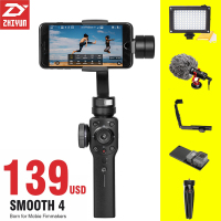 ZHIYUN Zhi Yun Smooth 4 Smartphone Handheld Stabilizer Tripod 3 Axis Portable For IPhone X 8