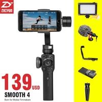 ZHIYUN Zhi Yun Smooth 4 Smartphone Handheld Stabilizer Tripod 3 Axis Portable For IPhone X 8