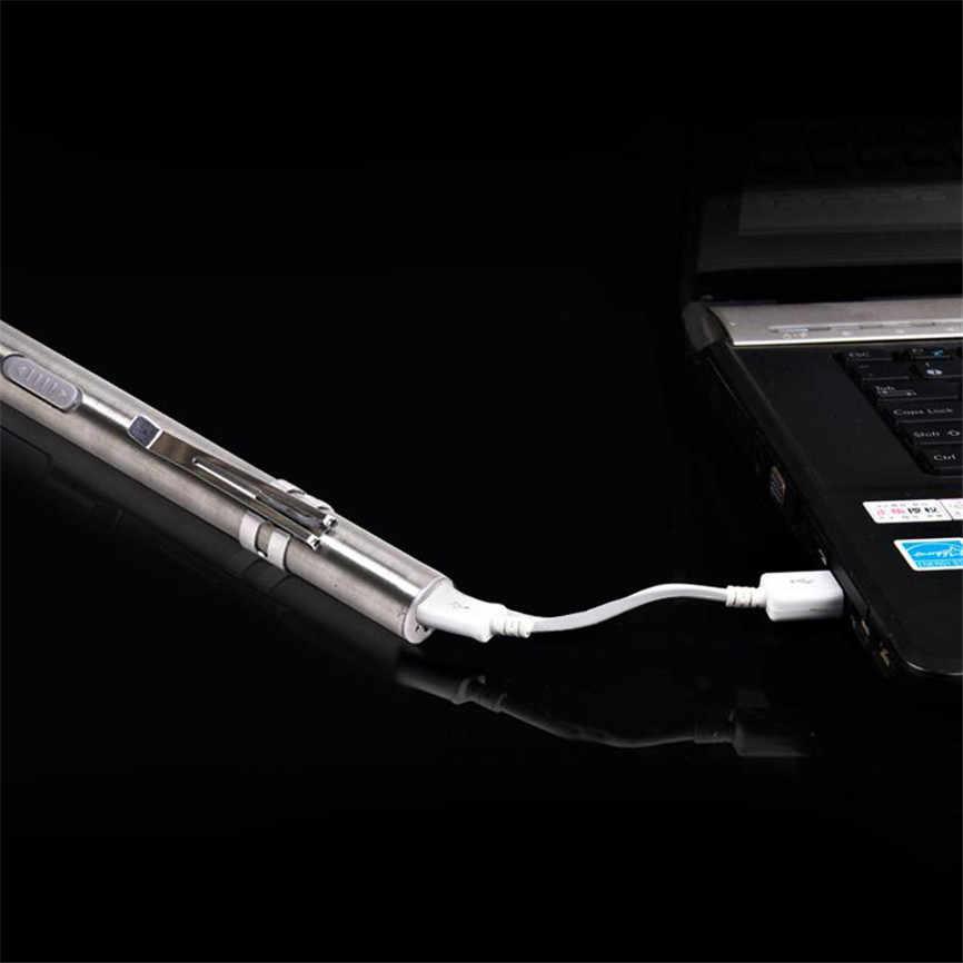 נייד USB פנס נטענת LED פנסים עמיד למים מיני לפיד Keychain מנורת 12.9*1.2cm אוקטובר #2