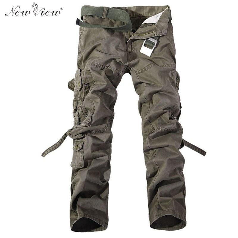 cargo pantalón estrenar Pantalones hombres a fit multi Pantalones largo del decoración tamaño 2017 hombres slim los bolsillos casual larga con gran EqIwU4fn