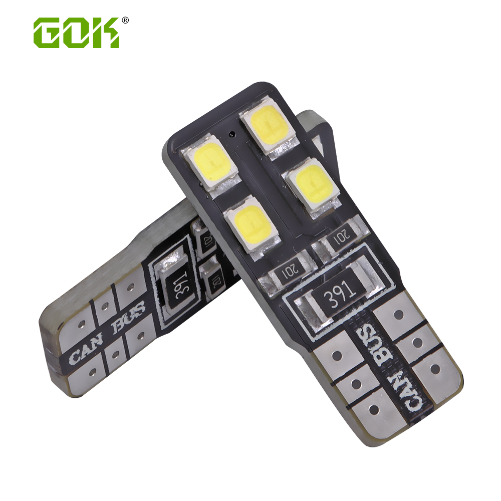цена на 10pcs/Lot Canbus T10 8smd 2835 LED car Light Canbus W5W t10 led canbus 194 2835 SMD Error Free White Light Bulbs