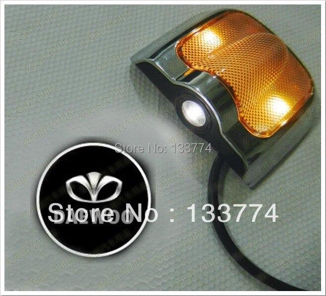 Daewoo Emblem: DAEWOO LOGO Car LED Emblem Welcome Light Door Step Ground