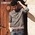 SIMWOOD Бренд 2016 Новый Осень Зима Кофты моды для мужчин причинные теплые толстовки с длинным рукавом WY8006