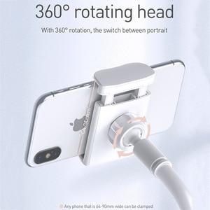 Image 5 - Baseus Foldable Mobile Phone Holder Adjustable Long Arm Lazy Phone Holder Clip Desk Tablet Mount Holder Stand For iPhone Samsung