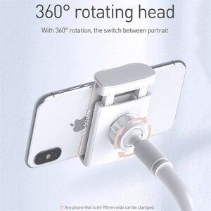 Image 5 - Baseus מתקפל נייד טלפון מחזיק מתכוונן ארוך זרוע עצלן קליפ שולחן לוח הר Stand מחזיק עבור iPhone סמסונג