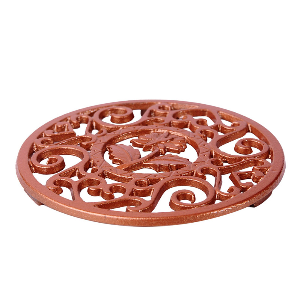 Kitchen Supplies Teapot Pad Round Dining Table Tool Heat Insulation Mat Gift Holder Multifunctional Trivet Cast Iron