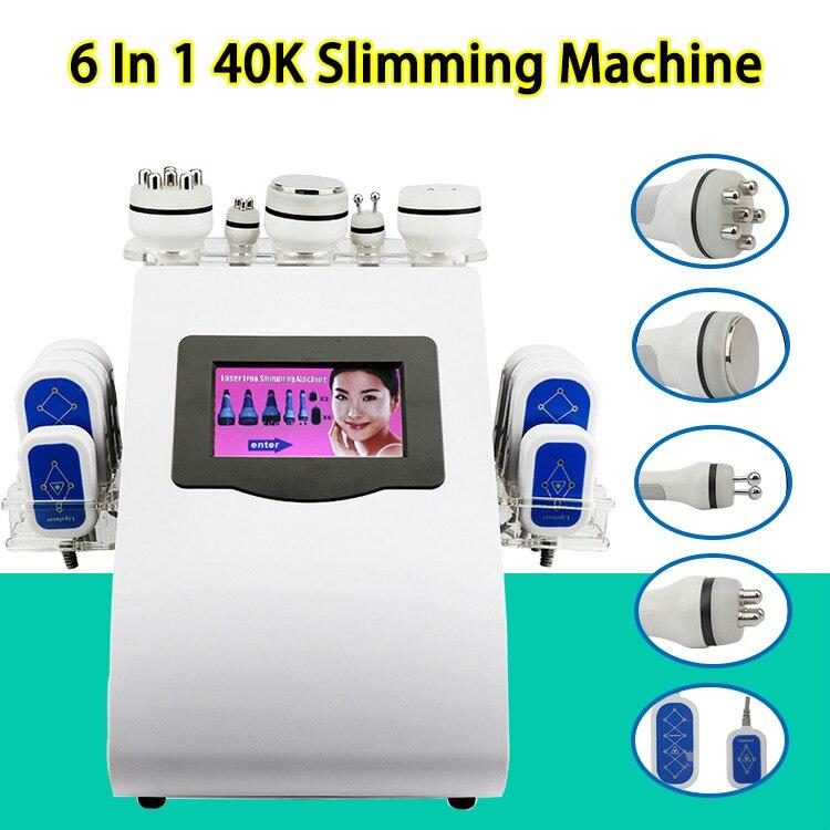 NEWEST 40k Ultrasonic liposuction Cavitation 8 Pads lipo Laser Slimming Machine Vacuum Skin Care Salon Spa Equipment CE DHL in Toiletry Kits from Beauty Health