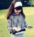 5pc/ lot  New Fashion Spring Autumn Zebra Children Knit Pullovers Sweaters    Girl Knit Sweater  Top Clothes Black pink
