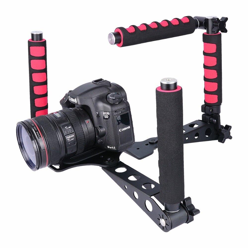 YELANGU D6 Transformable Rig Foldable DSLR Movie Holder Shoulder Mount Stabilizer Kit For DV Film Video Camcorder 5D 6D 7D D800 c shape mount holder for dslr camcorder dv green black