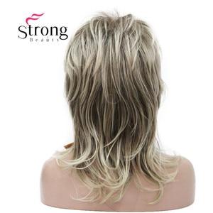Image 3 - Strong beauty perruque complète synthétique classique Blonde Ombre à couches pour femmes, perruque longue Shaggy, couleur choix