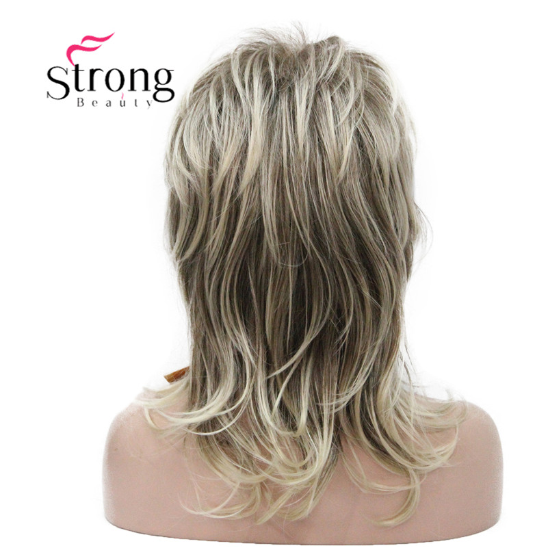 Image 3 - StrongBeauty Long Shaggy Layered Ombre Blonde Classic Cap Full Synthetic Wig Women's Wigs COLOUR CHOICES-in Synthetic None-Lace  Wigs from Hair Extensions & Wigs