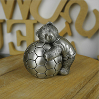 2015 Fashion Family Decoration Vintage Bear Money Box Coin Metal Piggy Bank Saving Box Creative Gift
