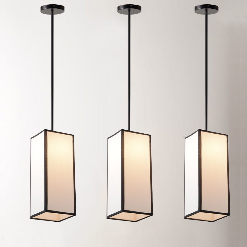 Chinese cloth dining room bedroom bedside pendant light modern simple restaurant creative personality Hotel lighting ZH ZS125 modern simple creative pendant light bar hotel pendant decorative light aluminum crystal pendant lights bedroom lamp lighting