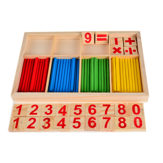 BOHS Counting Sticks Box Set  Montessori Wooden Number Math Teaching Aids Game Materials Educational  Toy
