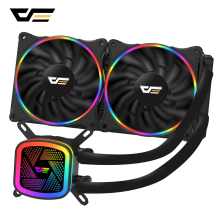 darkFlash Aigo CPU Cooler Computer Fan Water Cooler Radiator AMD Intel Silent CPU Water Cooling PC Case Fan LGA/1151/775/AM3/AM4 original for id cooling mute 120 integral cpu water cooled radiator water cooled fan 115x lga 1366 2011 for amd universal