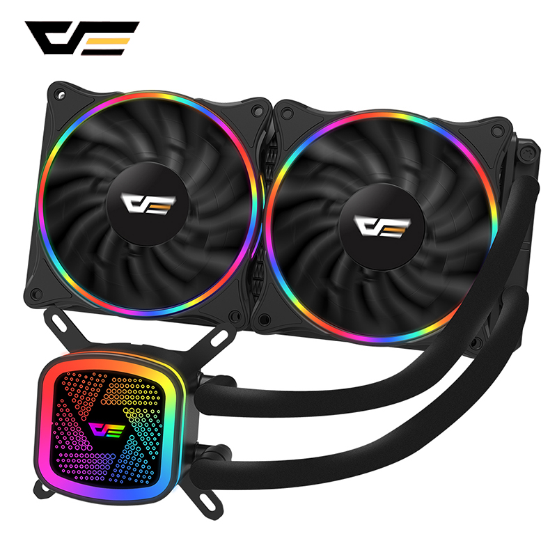darkFlash Aigo CPU Cooler Computer Fan Water Cooler Radiator AMD Intel Silent CPU Water Cooling PC Case Fan LGA/1151/775/AM3/AM4