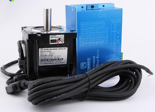 все цены на Free Shipping 2 phase NEMA34 4.5Nm 566ozf.in Closed loop Stepper servo motor driver kit JMC 86J1880EC-1000+2HSS86H онлайн