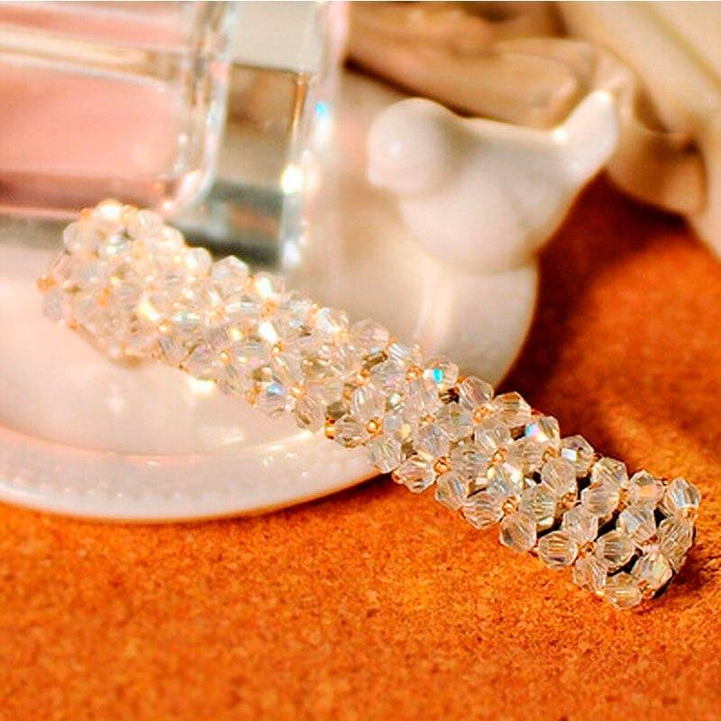 HTB1VhF6JFXXXXa3XXXXq6xXFXXX6 Women's Sparkling Rhinestone Crystal Beads Hair Clip Barrette - 6 Colors