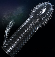 Penis Extender Sleeve With Spiky G Spot Stimulator