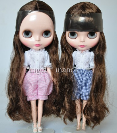 Free shipping Nude Blyth Doll, Brown1  hair, big eye doll,Fashion doll Suitable For DIY Change BJD , For Girl's Gift  free shipping nude blyth doll brown wavy wig doll toys for girls