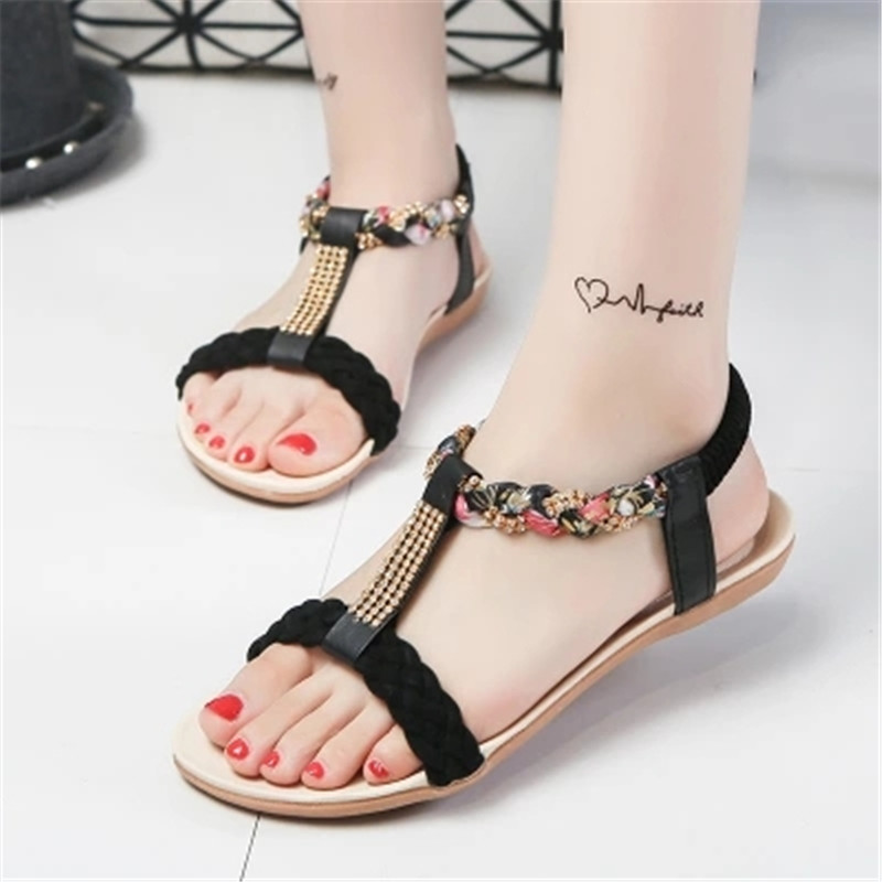 Women Sandals Summer Women Shoes Flower Beach Sandals Shoes Female Comfortable Women Summer Shoes Flats Sandalias Mujer summer sandals women clogs beach slipper women shoes casual sneakers women flats sandals ladies shoes zapatos mujer