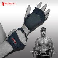 1 Pair Brand Men Women Gym Body Building Training Sports Fitness Weight Lifting Gloves Antiskid Hollow