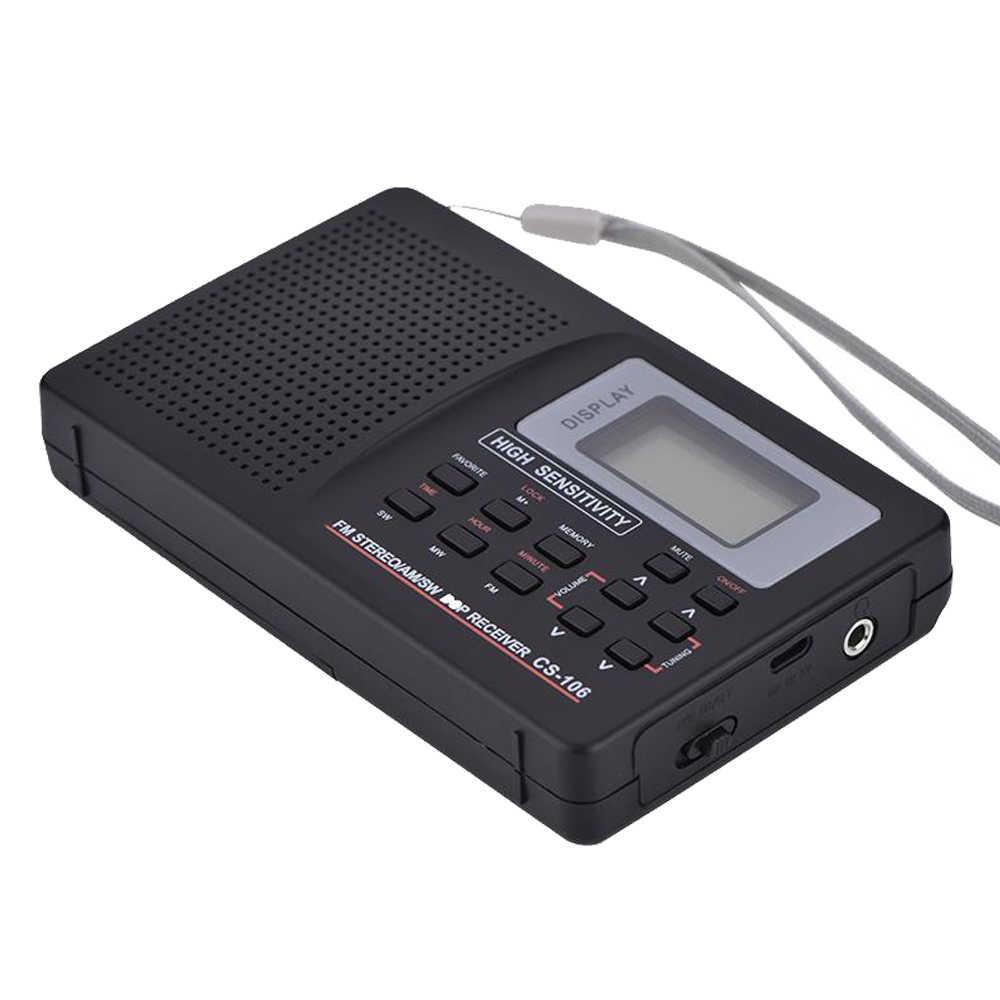 F-01 портативное минирадио приемник Поддержка FM/AM/SW/LW/tv звук полный частота радио приемник Поддержка Будильник для пожилых людей