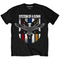 Men S System Of A Down Eagle Colors T Shirt Officially Licensed Men T Shirt 100