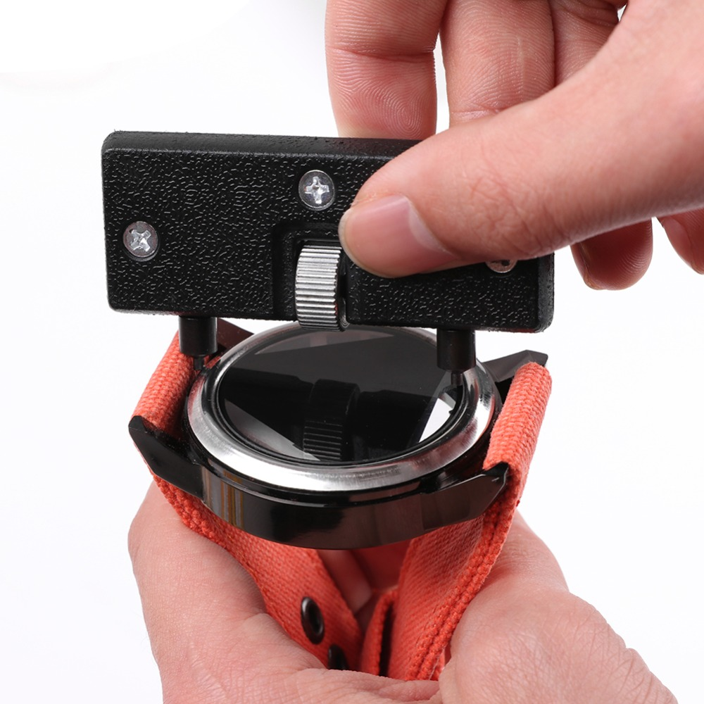 Watch Repair Tool Kit Watchmaker Back Case Opener Wrench Cover Remover Adjustable Watch Back Case Wrench Opener Repair Screw Watches
