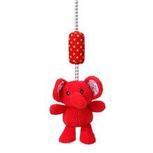 Купить с кэшбэком New cartoon cute multi-purpose red elephant animal wind chime rattle hanging ornaments baby toys plush embroidery print doll