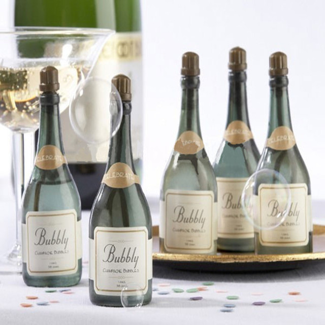 20 Pcs Mini Champagne Bubbles Empty Bottle Wedding Party Favors
