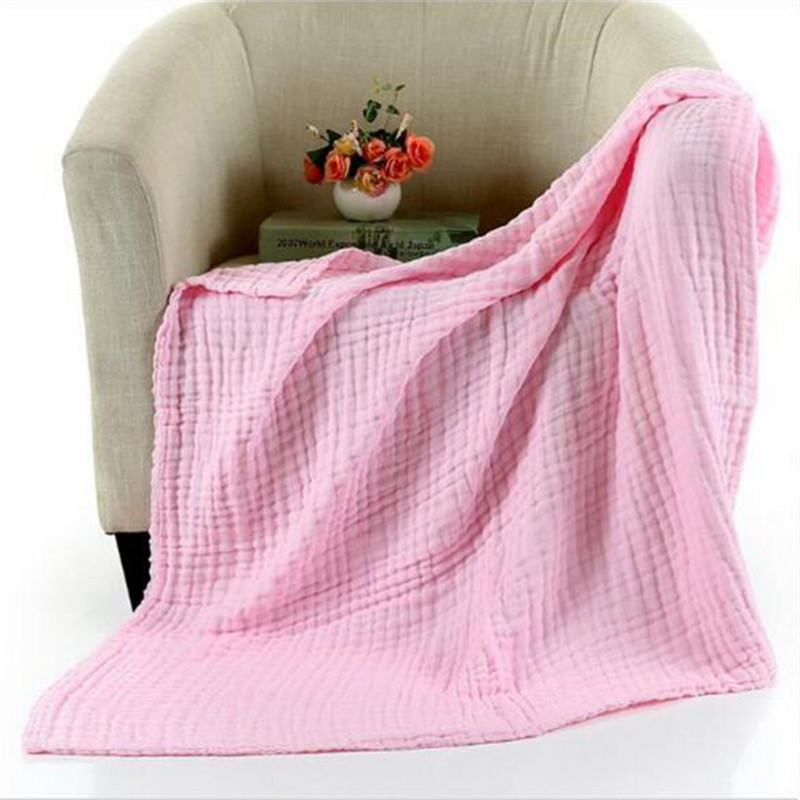 110cm*110cm Soft Breathable 6 Layers Gauze Brand Baby Blankets Swaddling For Babies Quilts 100Cotton Infants Baby Blankets
