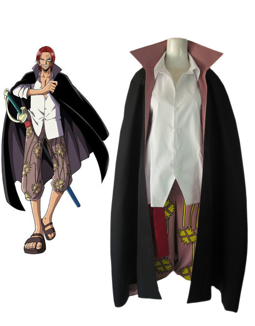"Free Shipping One Piece ""Red-Haired"" Shanks Two Years Latter  Anime Cosplay Costume"