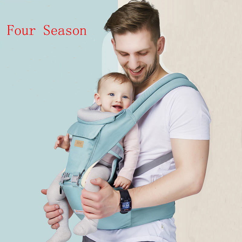 Baby Waist Stool Straps Sling Front Carry Newborn Backpack Carrier Safety Harness Multi-function Kid Kangaroo Suspender Backpack multi function portable comfortable cotton baby carrier sling bag deep blue white