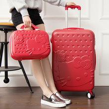 Wholesale Password box trolley luggage picture box universal wheels travel bag 14 28 luggage suitcase sets