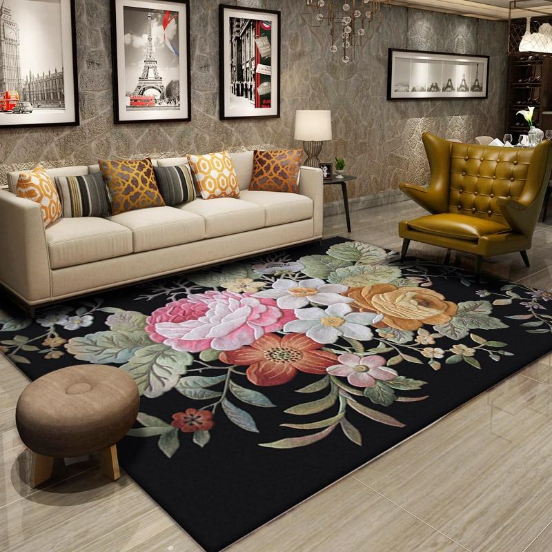 Nouvelle-zélande laine tapis salon Europe pastorale tapis chambre décor à la maison tapis canapé Table basse tapis de sol à la main tapis de sol
