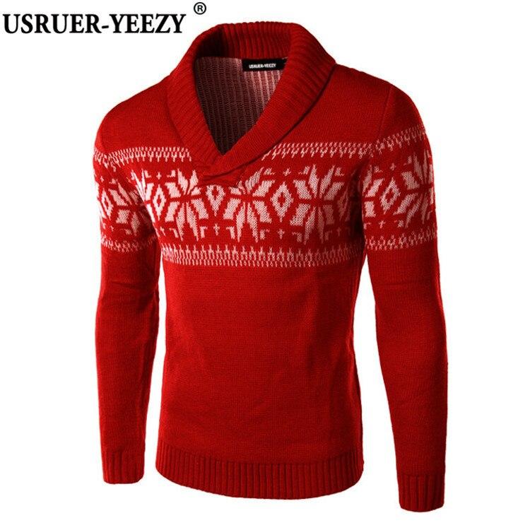 USRUER YEEZY New Autumn Winter font b Sweater b font font b Men b font Slim