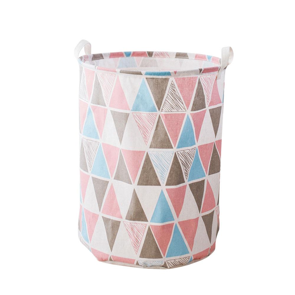 Корзина для грязного белья, корзина для одежды, корзина для уборки белья из хлопка 40*50 см, удобная корзина для хранения, практичная - Цвет: 3