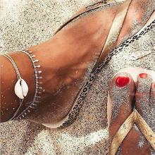 Hot Natural Sea Shell Handmade Beach Ankle Bracelet Bohemian foot Bracelets Accessories Beaded for women